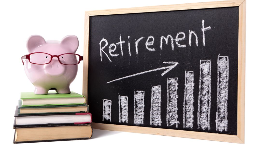 retirement planning on a chalkboard